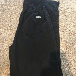 XS black greys anatomy scrub pants